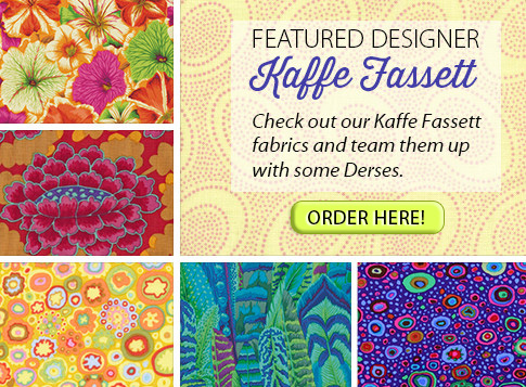 Kaffe Fassett - Check out our Kaffe Fassett fabrics and tema them up with some Derses